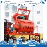 나이지리아 수용량 25m3/H에 있는 자동적인 Js500 쌍둥이 축선 구체 믹서 판매