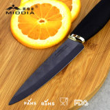 4 polegadas Black Blade Kitchen Ceramic Fruit / Paring Knife with Elegant Handle
