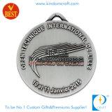 Medaglia su ordinazione del premio dell'argento dell'oggetto d'antiquariato del metallo dello smalto di modo come regalo
