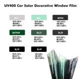 Pellicola di colorazione solare verde chiaro 1.52*30m di pelle del commercio all'ingrosso 100% di cura di automobile della stagnola Anti-UV della finestra