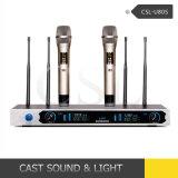 Billig 150m Empfänger-Reichweite UHFdrahtloses Mikrofon mit zutreffender Verschiedenartigkeit