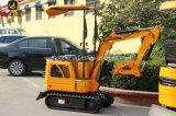 Mini máquina escavadora mini escavador de 0.8 toneladas do lobo