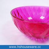 다이아몬드에 의하여 형성되는 착색된 유리제 사라다 그릇