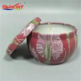Keramische Zinn-Kerze mit schönem Muster