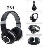 Excellent confortable casque Bluetooth sans fil B61 avec microphone pour les téléphones mobiles