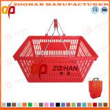 Panier à provisions neuf personnalisé de traitement de double de supermarché de pp (Zhb40)