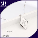 Moda Cross Zircon Jewelry 316L Stainless Steel Pendant