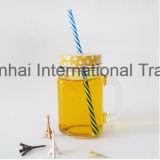 Conteneur en verre de boissons de maçon d'idées de cadeau avec le traitement