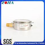 Meio manómetro do aço inoxidável com venda quente do conetor sem chumbo no mercado de América