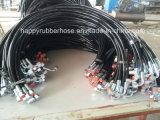 Fr 855 R8 Deux Polyester thermoplastique renforcé de la tresse de flexible hydraulique