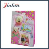Bolsa de papel impresa oso encantador al por mayor de encargo del regalo del portador que hace compras