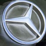 Kundenspezifisches an der Wand befestigtes Auto-Firmenzeichen des Metall3d