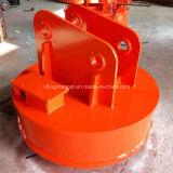 Elevatore magnetico industriale circolare per gli scarti d'acciaio sull'escavatore