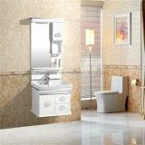 Cabinet de salle de bains de la vanité de salle de bains de PVC de modèle du Japon/PVC