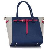 Vrouwen van de Handtas van de Totalisator van de Kleur van het Contrast van de manier de Witte/Zwarte Dame Bag