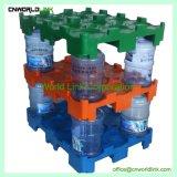 Das 5 Gallonen-Trinkwasser füllt logistische Speicherladeplatten ab