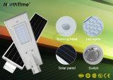Intelligente einteilige Solar-LED-Straßenlaterne mit Lithium-Batterie 18ah