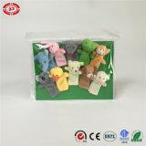 La marionnette animale faite sur commande de doigt de peluche de forme badine le jouet mou de cadeau