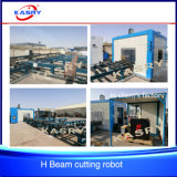 Máquina lidando da estaca automática de aço da barra de ângulo do feixe do plasma H do CNC da construção