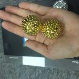 Esferas Spiky da acupuntura magnética das esferas da massagem com cor 4.7cm do ouro