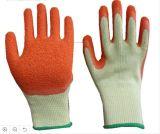 Латекс Crinkle с раковиной 5yarn в хороших перчатках работы сжатия