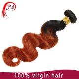 Unverarbeitete Jungfrau brasilianisches Omber Karosserien-Wellen-Haar