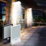 lámpara de la seguridad del jardín de la luz del sensor de movimiento de la luz PIR del movimiento de la energía solar de 450lm 36 LED al aire libre