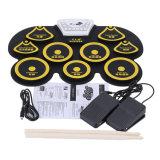 Nécessaire électronique de garniture de tambour de remontée pyramidale pliable portative de Digitals USB MIDI de silicones