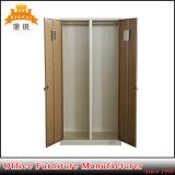 Schlüsselverschluss-doppelte Tür-Stahl kleidet Schrank-Schließfach