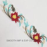 Tessuto di maglia multicolore di Tulle del merletto del ricamo del fiore di immaginazione 3D di modo