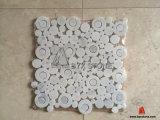 Neuer Entwurfs-weiße Marmormosaik-Fliese für Wand-Dekoration