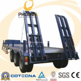 Низкие Axles трейлера 3 кровати 80-100 тонн