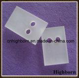 Lastra di vetro gelida personalizzata del quarzo di brillamento di sabbia con il foro rotondo