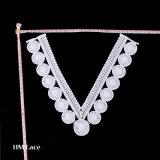 Уравновешивание шнурка, ворот шнурка, Bridal Applique венчания, ворот хлопка, ожерелье шнурка