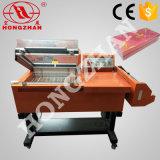 Semiautomática selladora manual combinado con horno de reducción de la habitación para 4 embalaje sellado lateral con el rodillo y doblar la película POF