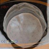 Scalp van de Knopen van het Haar van het Netwerk van Elsatic Maagdelijke Dubbele Hoogste Pruik (pPG-l-01629)
