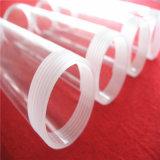 Tubo di vetro libero del silicone con l'estremità della vite