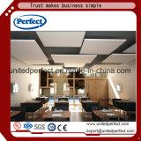 Panneau insonorisé de plafond de fibre de verre blanche