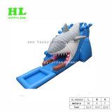3D Shark надувные водные горки с бассейном