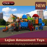 Glissière extérieure de matériel de cour de jeu d'enfants de plastique de petite taille (X1508-6)