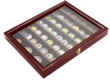 Insignia de solapa, un botón, Medalla, Joyas Mostrar caja de madera