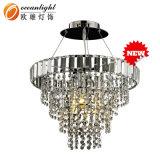 Lustre en cristal LED lampe de plafond pour l'hôtel