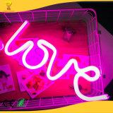 USB et alimentation par batterie voyant néon Lettre d'amour lumière