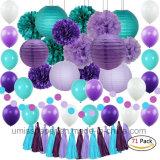 Papel Umiss lanternas de artesanato para a festa de aniversário Mermaid Parte da Fábrica de decoração