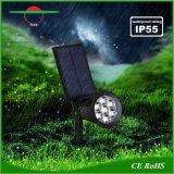 Ajustable 7LED Piscina Punto de luz solar césped luces con panel separados