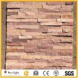 Branco/cinza/amarelo/Cultura Quartzo pedra ardósia para revestimento de paredes