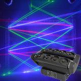 De Spin die van de Verlichting van DJ van de partij 8PCS 10W het HoofdLicht van de Laser bewegen