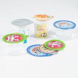 Les couvercles d'aluminium imprimé pour le yaourt tasse en plastique de l'étanchéité