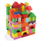 100 PCS crianças reconhecimento coloridos de brinquedos educativos Blocos de Madeira