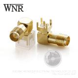 Recto Wnre hembra Mini conector SMA para PCB
